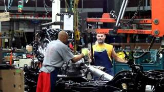 GM Arlington Assembly / Engine/Trans Being Assembled Into The Frame