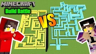 Minecraft: NINAS GOLD LABYRINTH VS. KAANS DIAMANT LABYRINTH! Welches ist schwieriger? Build Battle