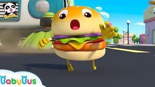 Cuộc phiêu lưu của 4 chiếc Hamburger   Hoạt hình - nhạc thiếu nhi hay   Bài hát Hamburger   BabyBus
