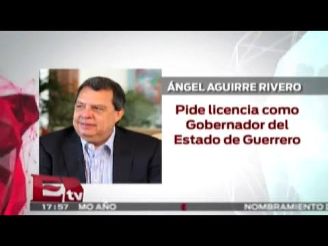Ángel Aguirre pide licencia como gobernador del Estado de Guerrero  / Andrea Newman