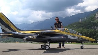 110KG HUGE RC TURBINE MODEL ALPHA JET AMAZING PERFORMANCE