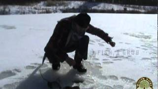 Ice Fishing with Deer Antler Set