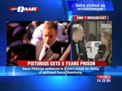 5 year imprisonment for Oscar Pistorius