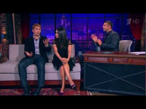 Mila Kunis speaking fluently Russian at Urgant Show March 7th 2013 (with James Franco)