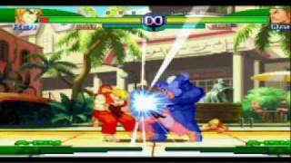 Street Fighter Alpha 3 - Super Combo vs Super Combo