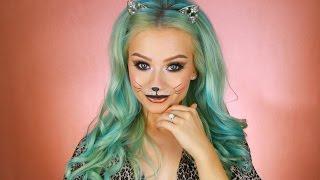 Last Minute Halloween Kitty Cat Makeup Tutorial | 2016