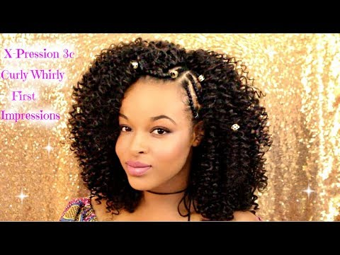 Crochet Braids With Outre X-pression 3c Whirly Loop |Tutorial and Review | Protective Style