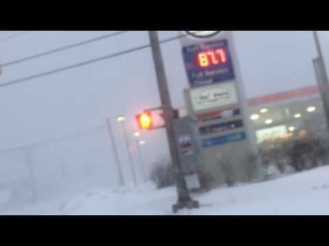 East Coast Blizzard Hits New Brunswick Canada (Saint John) January 27th 2015