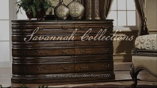 Italian Furniture Dresser & Mirror by Savannah Collections Hickory Chair