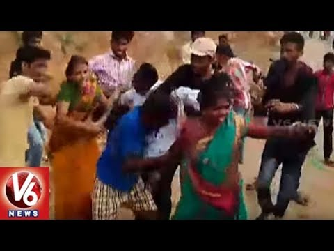 Clash Between Two Groups Near Nawabpet In Mahabubnagar | V6 News