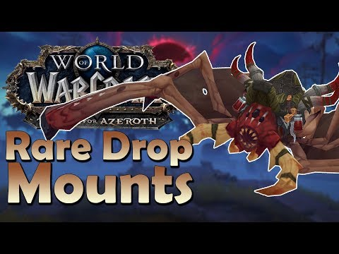 The 4 Rare Drop Mounts of Kul'tiras & Zandalar! & Where to Find Them   Battle for Azeroth