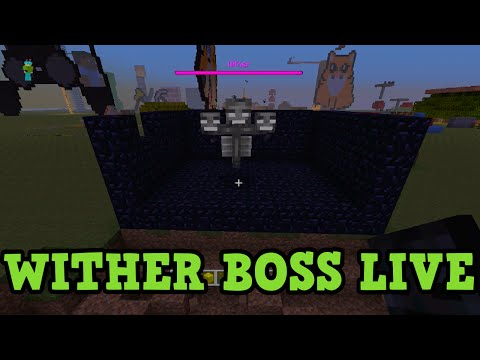 Minecraft Xbox TU19 WITHER BOSS FIGHT First Attempt LIVE