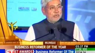 Nitish Kumar gets business reformer of the year award-Business-Videos-The Times of India.mp4