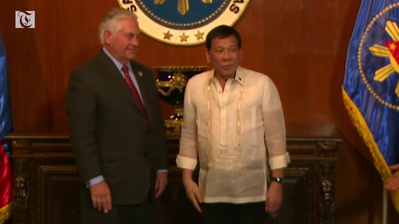 Tillerson meets Philippine President Duterte