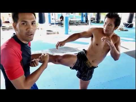 Muay Thai Technique #01 Catch kick & Jump Knee @ Phuket Top Team Image 1