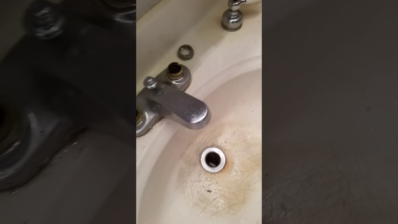 Leaking bathroom sink faucet
