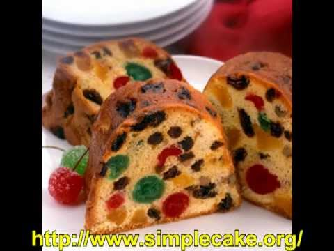 Learn How To Bake Simple Fruit Cake Youtube