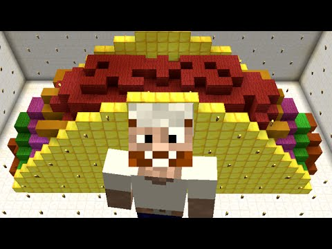 Minecraft vs Zombies | MEGA GOLDEN TACO!! | PvZ  Land
