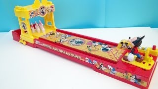 MICKEY MOUSE BIG TIME BOWLING DISNEY BOARDGAME VIDEO TOY REVIEW