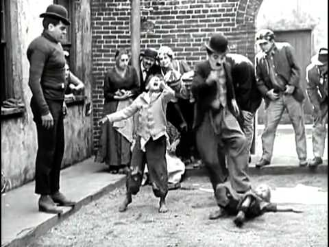 The Kid,Charlie Chaplin fight scene one of the funniest scenes in kid