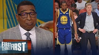 Cris Carter reacts to Steve Kerr's comments on Kevin Durant's injury   NBA   FIRST THINGS FIRST