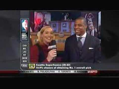 Jay-Z at the NBA Draft Lottery
