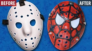 How to Make a Spiderman Style Jason Mask - Friday The 13th DIY