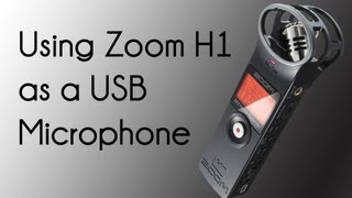 How to Use Zoom H1 as a USB Microphone & Get the best Quality