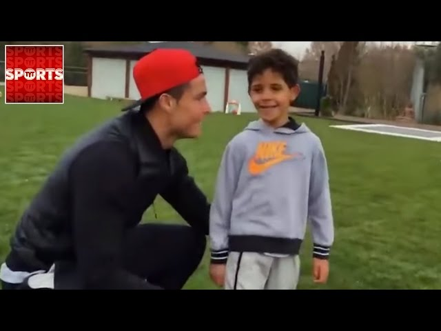 WATCH Ronaldo and Ronaldo Jr. Work On Their Football Skills