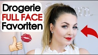 FULL FACE DROGERIE FAVORITEN Makeup Look deutsch👍🏼💄💋