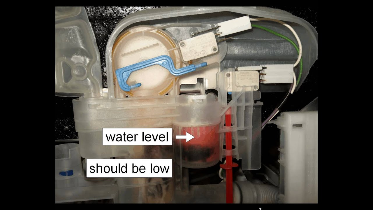 dishwasher pump runs continuously