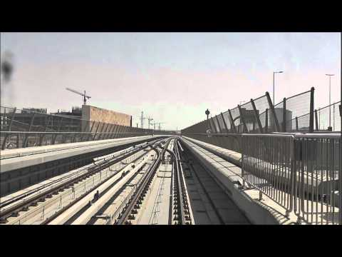 Dubai Metro - Ibn Batutta to Jebel Ali + Additional Scenes [720p]