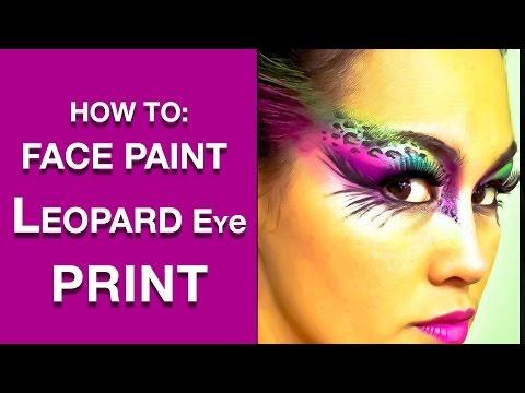 Leopard Half Face Paint Leopard Print Eyes Face Paint
