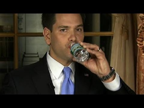 Marco rubio s water bottle moment in state of the union response
