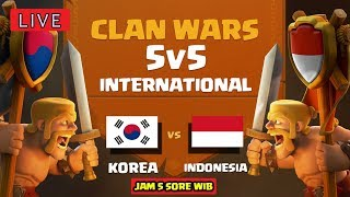 🔴 CLAN WARS INDONESIA vs KOREA! - OFFICIAL Clash of Clans