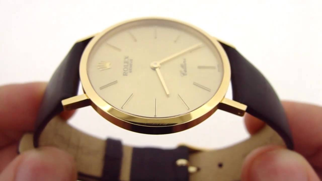 Rolex cellini 4112 18k gold watch youtube for Rolex cellini