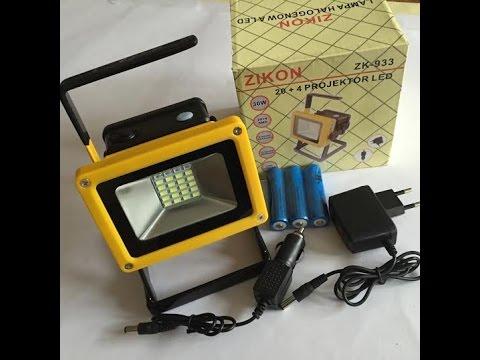 Светодиодный прожектор от аккумулятора