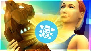 SKELETON PROTECTOR! LET'S PLAY THE SIMS 4 JUNGLE ADVENTURE  [ Part 4 ]