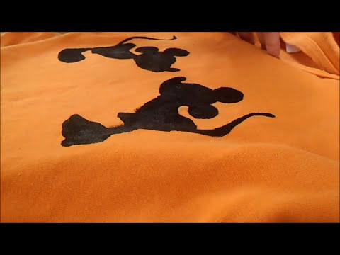 DIY. Crea estampados en tus camisas/blusas FACIL!! (Mickey&Minnie)