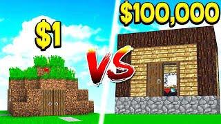 $1 DIRT HOUSE vs $100,000 WORLD'S BIGGEST HOUSE!