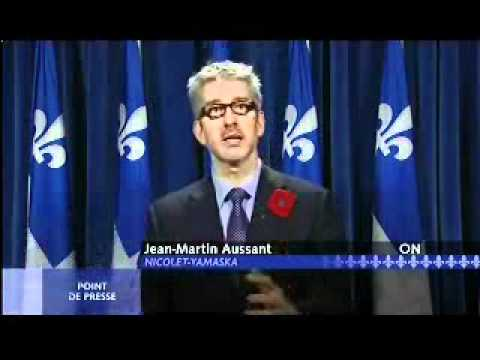 La finance au Québec selon Jean-Martin Aussant (Option Nationale)