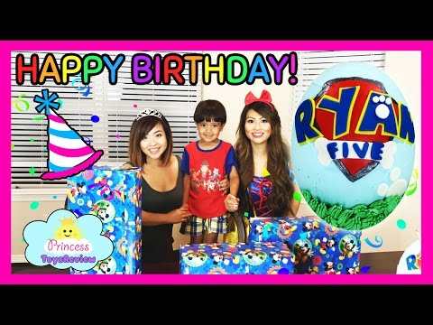 BIRTHDAY PARTY Paw Patrol Cake with TOY SURPRISE Inside Cake Smash with Ryan & Princess T Snow White