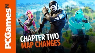 Fortnite Chapter 2 map changes | Sweaty Sands, Craggy Cliffs, Slurpy Swamp and more