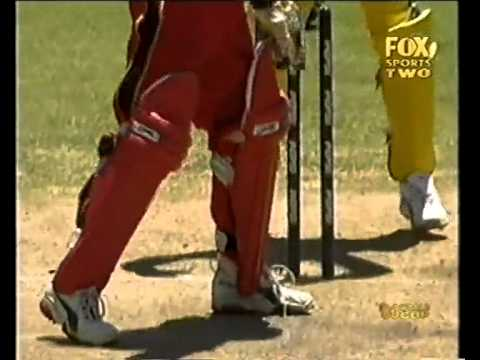 Brad Hogg killer flipper to Andy Flower 2003 World Cup
