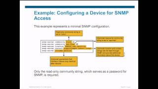 CCNP TSHOOT 642-832 Cisco Authorized CCNP Training: Configuring SNMP
