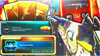 """NEW FREE DLC WEAPON UNLOCKING IN BLACK OPS 3! - BO3 """"TRIPLE PLAY CONTRACT"""" DLC WEAPON SUPPLY DROP!"""