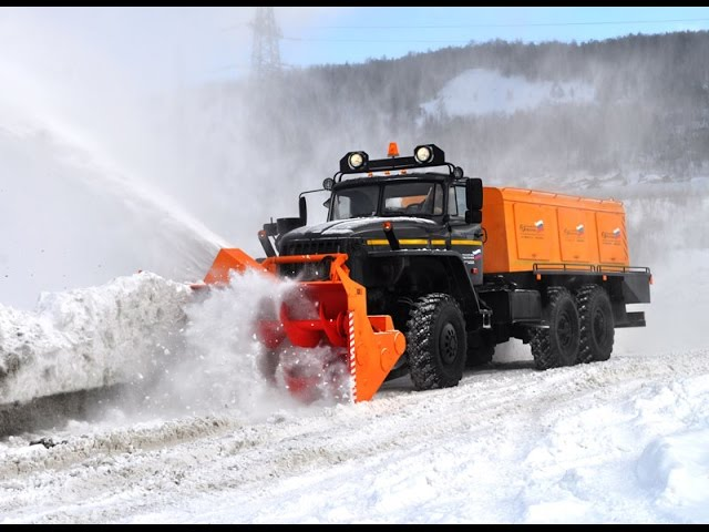 Обзор шнекороторного снегоочистителя Урал 4320-1151-61 производства Уралспецмаш