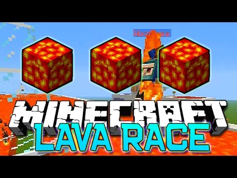 Minecraft: LAVA RACE Red VS Blue Mini-Game Challenge w/The Pack