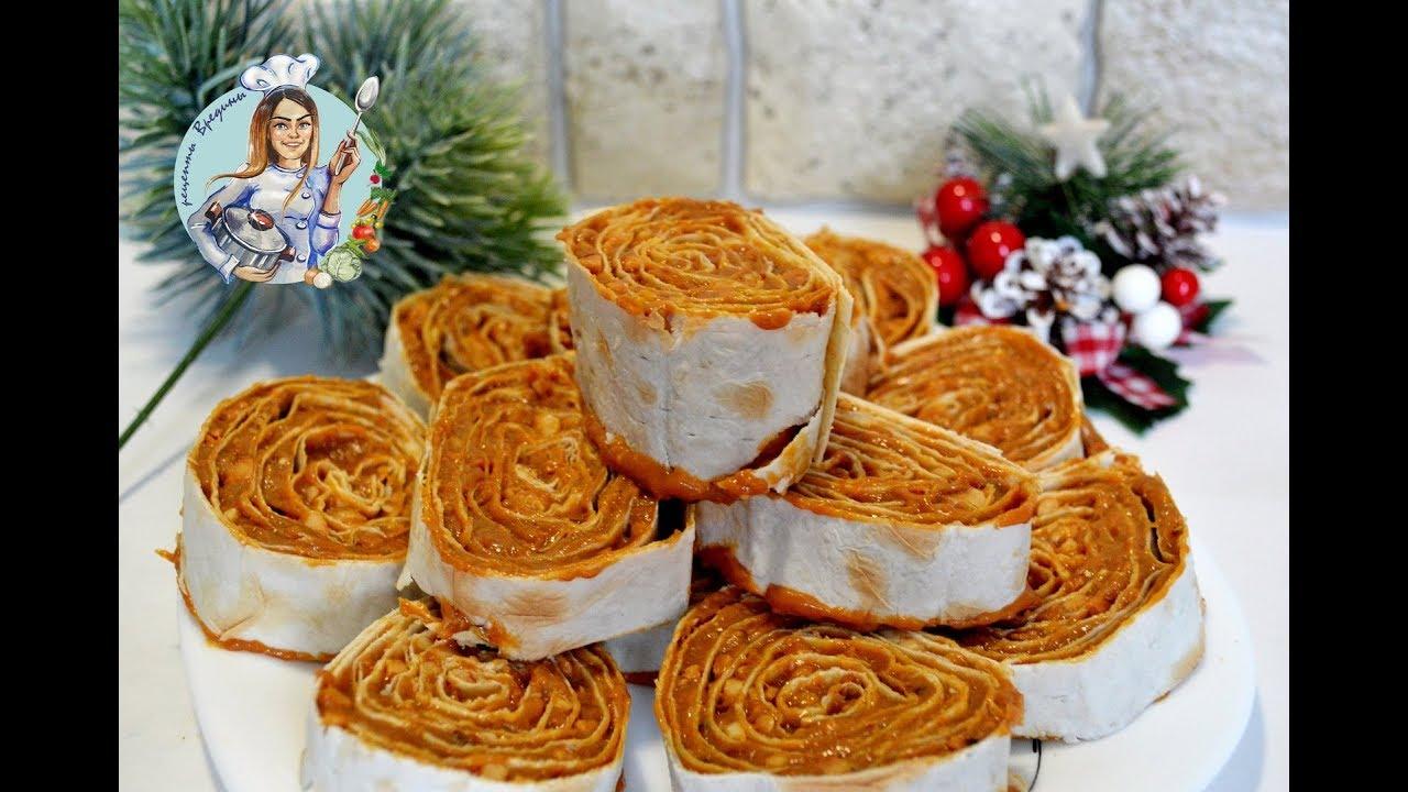 Сладкие десерты из лаваша рецепты
