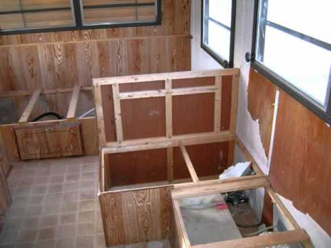 14 Foot Travel Trailer Renovation With Fireplace Addition